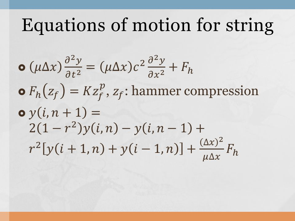 Equations of motion for string