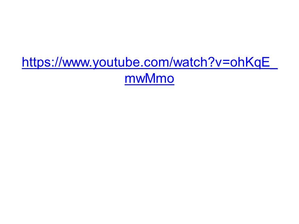 https://www.youtube.com/watch v=ohKqE_ mwMmo