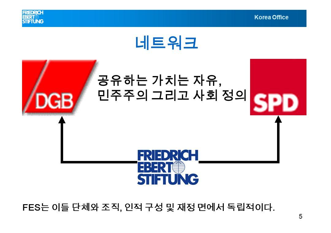 Korea Office 네트워크 공유하는 가치는 자유, 민주주의 그리고 사회 정의 FES 는 이들 단체와 조직, 인적 구성 및 재정 면에서 독립적이다. 5