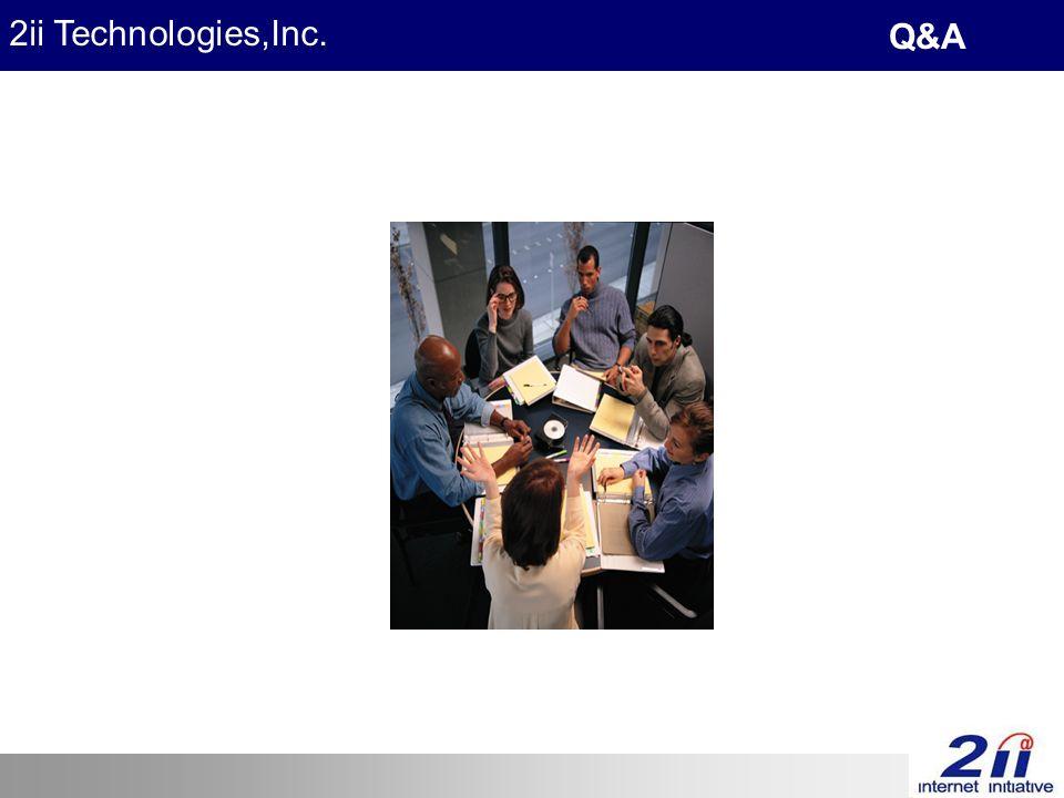 2ii Technologies,Inc. Q&A
