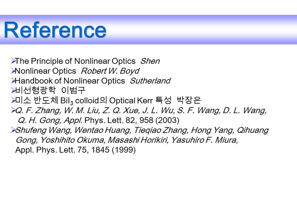  The Principle of Nonlinear Optics Shen  Nonlinear Optics Robert W.
