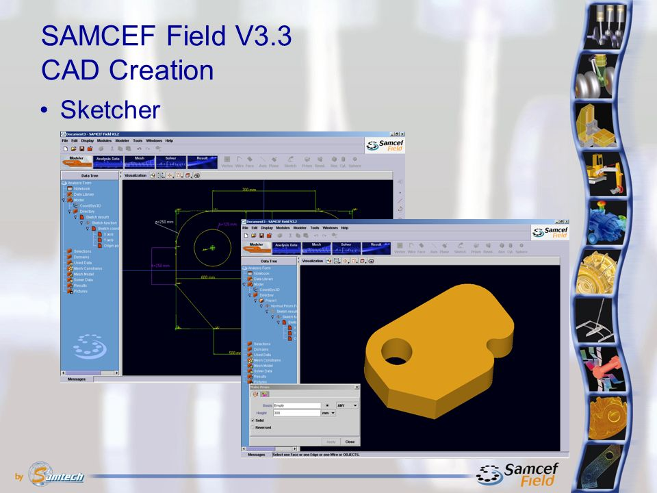 SAMCEF Field V3.3 CAD Creation Sketcher