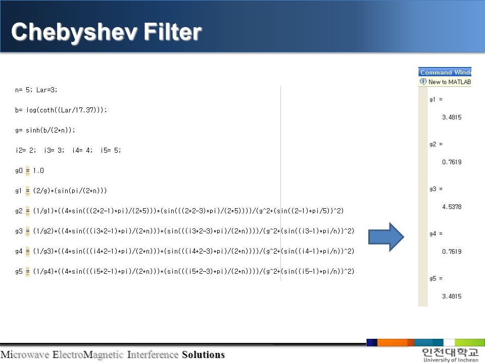 Microwave ElectroMagnetic Interference Solutions Chebyshev Filter