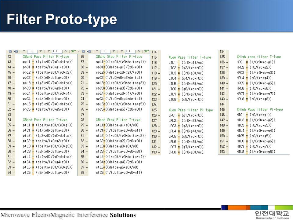 Filter Proto-type