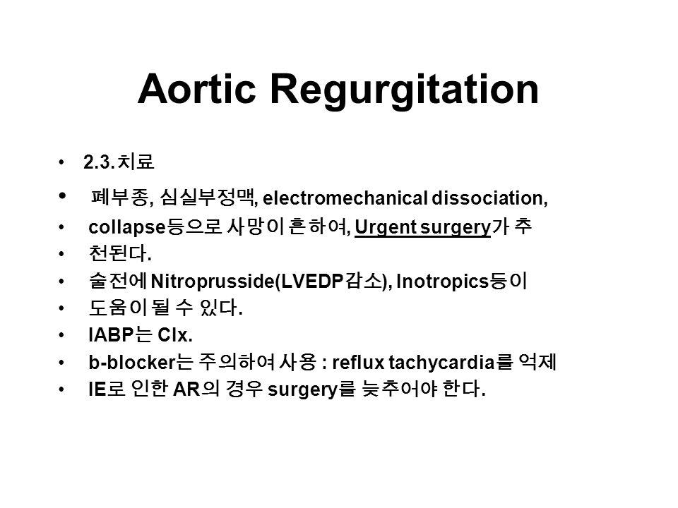 Aortic Regurgitation 2.3.