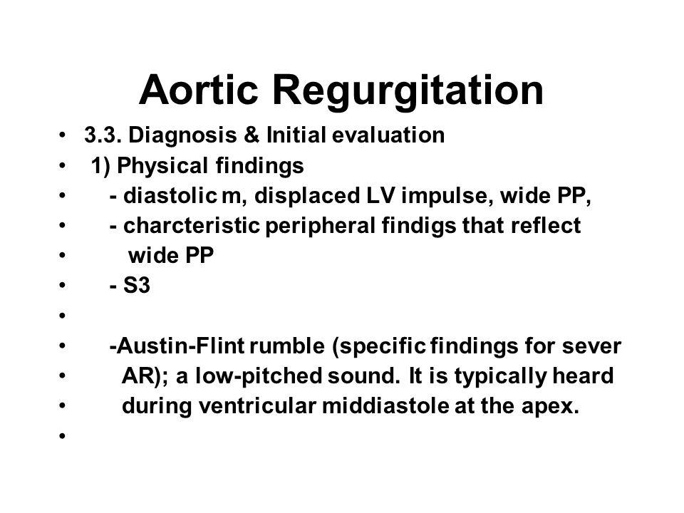 Aortic Regurgitation 3.3.