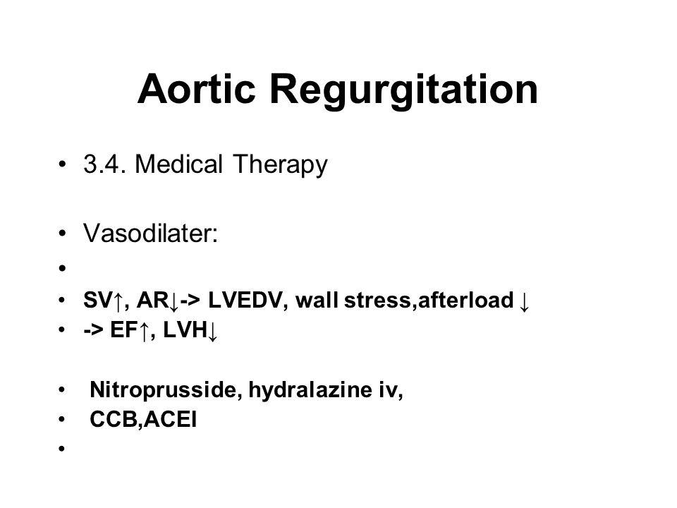 Aortic Regurgitation 3.4.