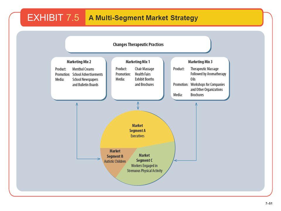 7–51 EXHIBIT 7.5 A Multi-Segment Market Strategy