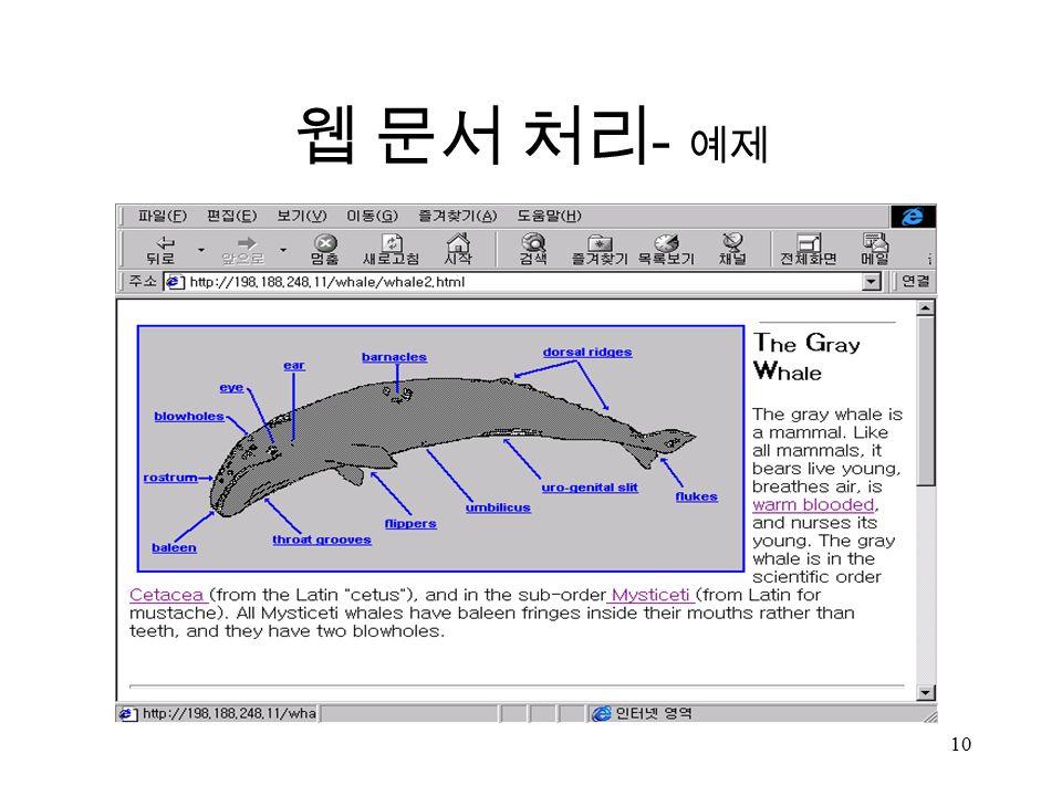 10 웹 문서 처리 - 예제