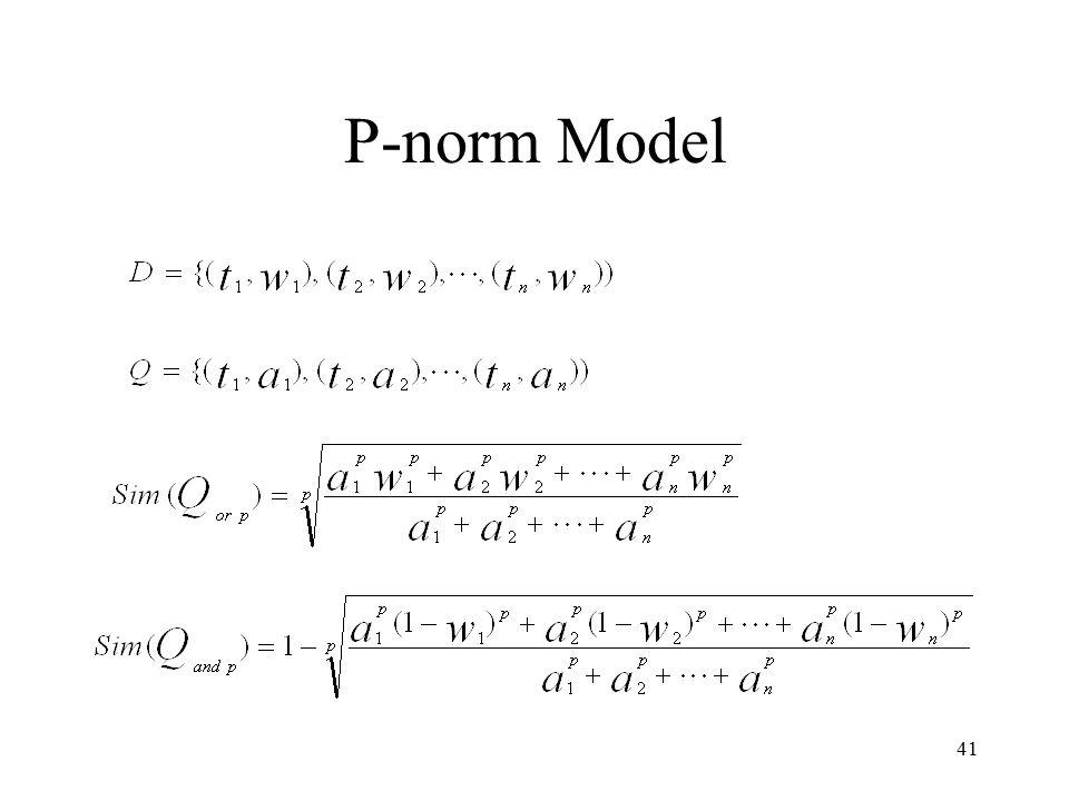 41 P-norm Model