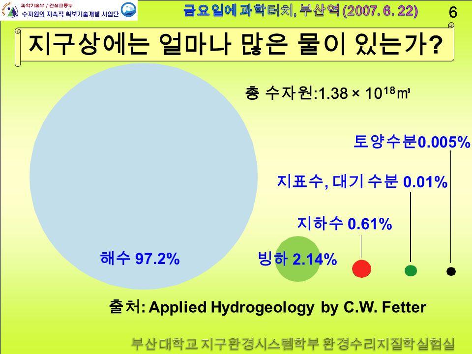 6 지구상에는 얼마나 많은 물이 있는가 .