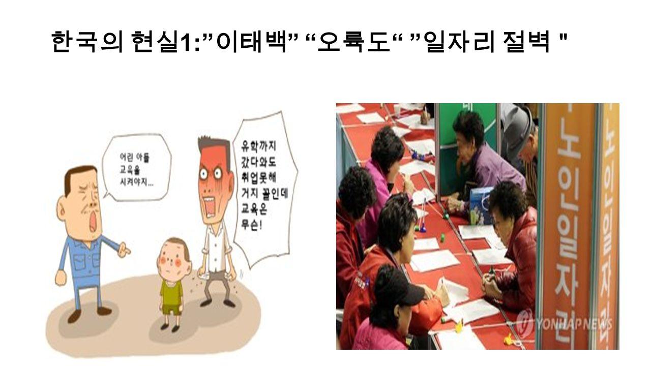 """한국의 현실 1: 이태백 오륙도 일자리 절벽"""""""