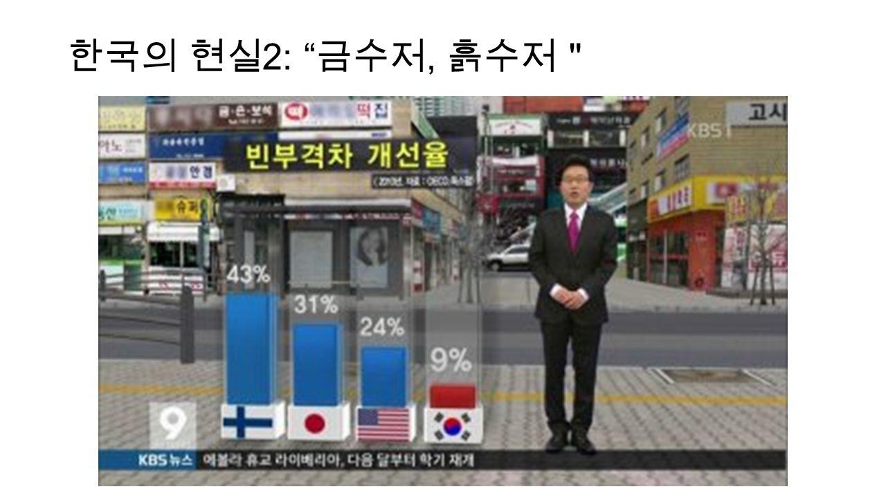 """한국의 현실 2: 금수저, 흙수저"""""""