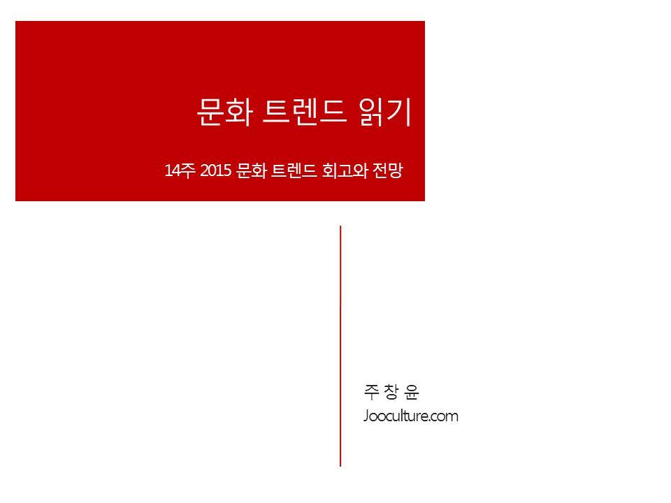 주 창 윤 Jooculture.com 문화 트렌드 읽기 14주 2015 문화 트렌드 회고와 전망