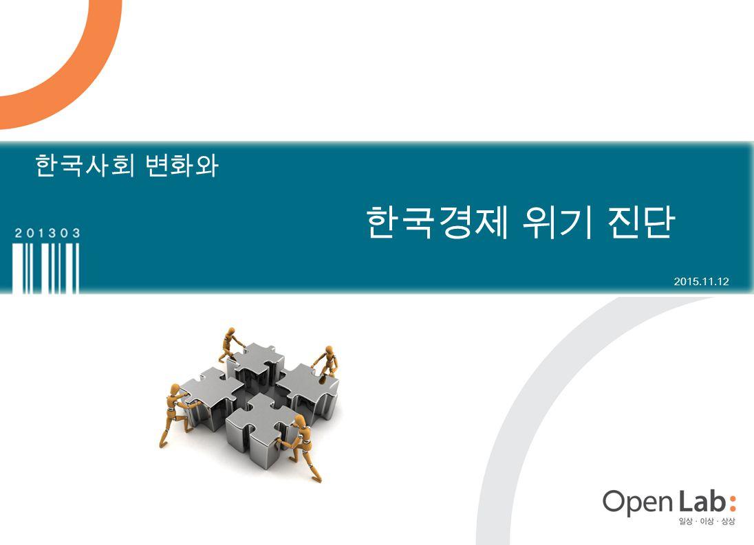 한국사회 변화와 한국경제 위기 진단 2015.11.12