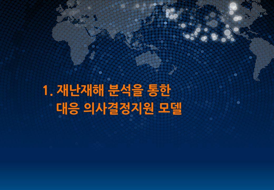 WORLD LEADING SOLUTION PROVIDER 1. 재난재해 분석을 통한 대응 의사결정지원 모델