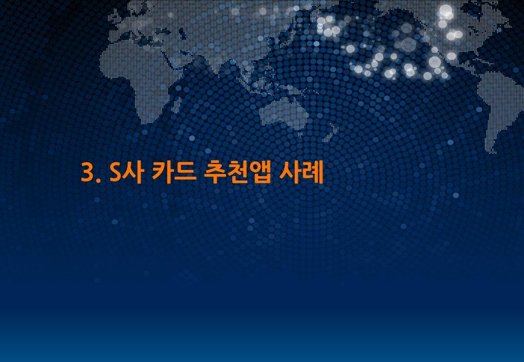 WORLD LEADING SOLUTION PROVIDER 3. S사 카드 추천앱 사례