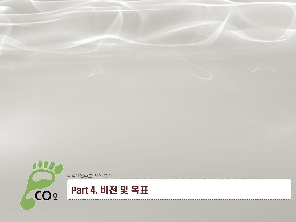 20 녹색산업수도 천안 구현 Part 4. 비전 및 목표