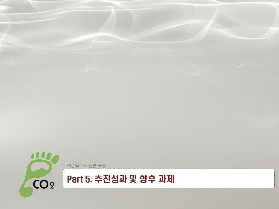23 녹색산업수도 천안 구현 Part 5. 추진성과 및 향후 과제