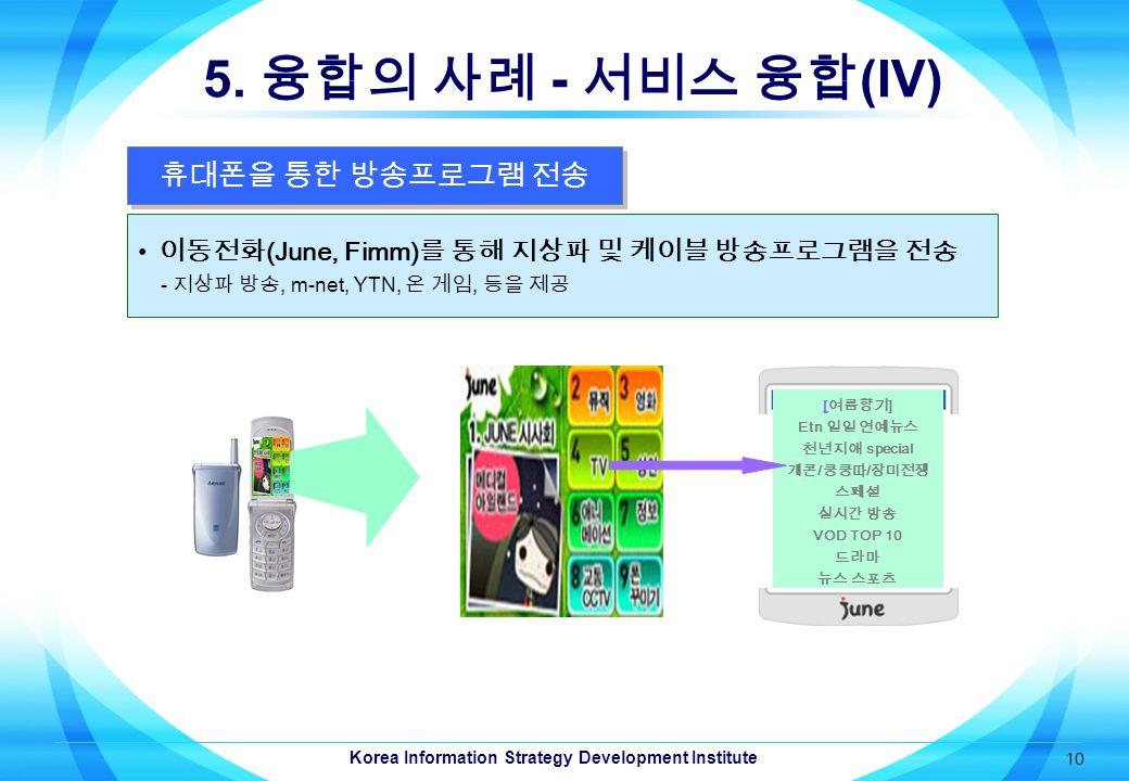 Korea Information Strategy Development Institute 10 5.