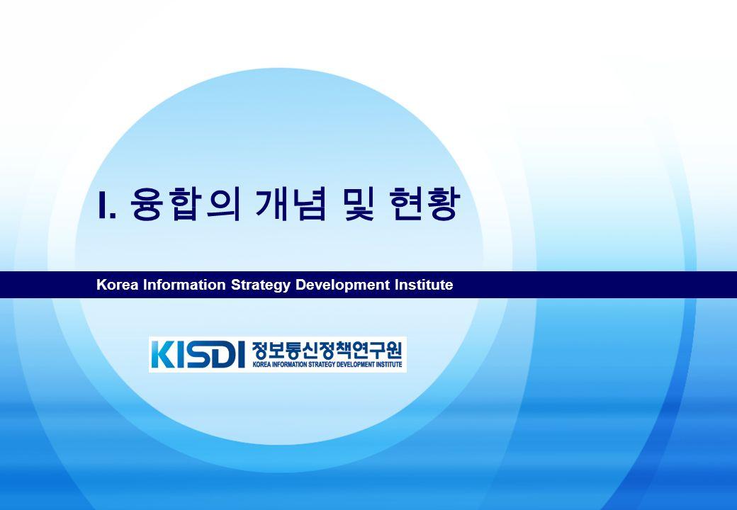 Korea Information Strategy Development Institute I. 융합의 개념 및 현황
