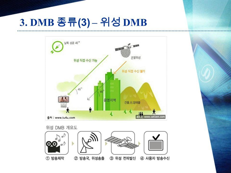 3. DMB 종류 (3) – 위성 DMB