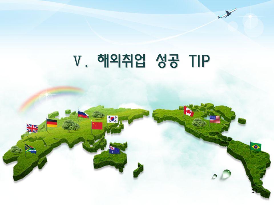 Ⅴ. 해외취업 성공 TIP 34