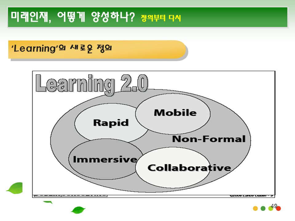 49 미래인재, 어떻게 양성하나 정의부터 다시 ' Learning ' 의 새로운 정의