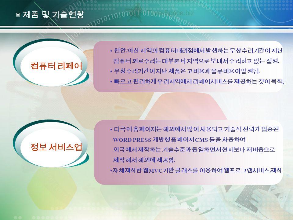 Add Title Click to edit title style 천안 / 아산 지역의 컴퓨터대리점에서 발생하는 무상수리기간이 지난 컴퓨터 회로수리는 대부분 타지역으로 보내서 수리하고 있는 실정.