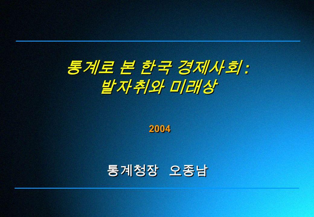 통계로 본 한국 경제사회 : 발자취와 미래상 통계로 본 한국 경제사회 : 발자취와 미래상 2004 통계청장 오종남