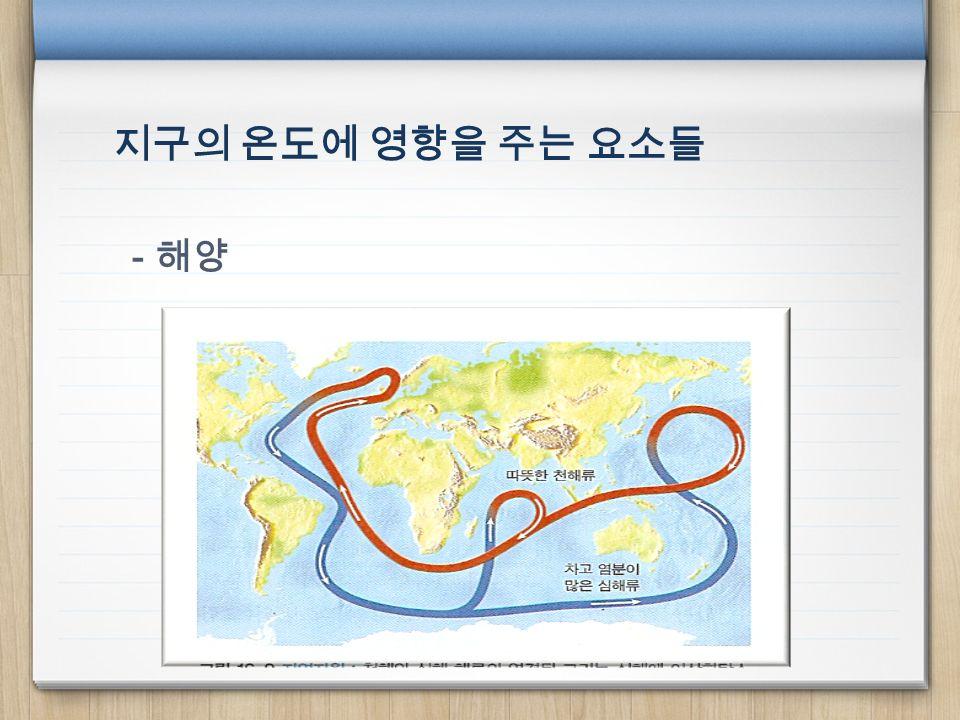 지구의 온도에 영향을 주는 요소들 - 해양