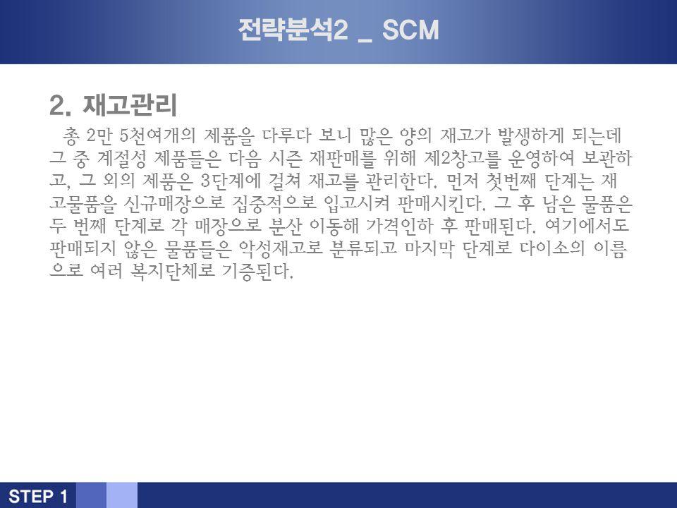 전략분석2 _ SCM 2.