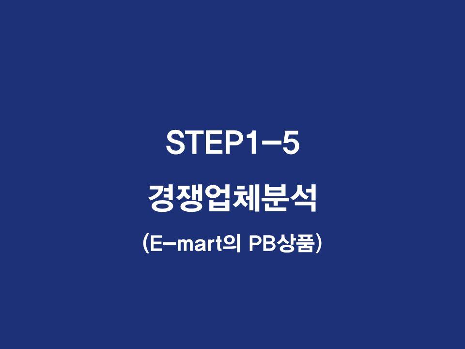 STEP1-5 경쟁업체분석 (E-mart의 PB상품)