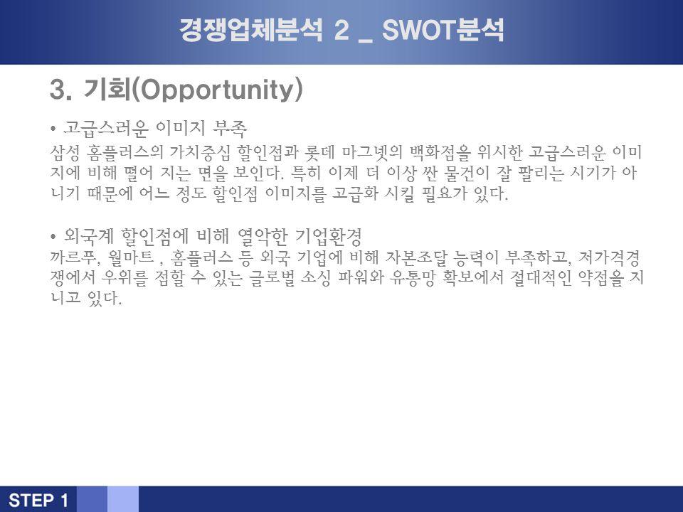 경쟁업체분석 2 _ SWOT분석 3.