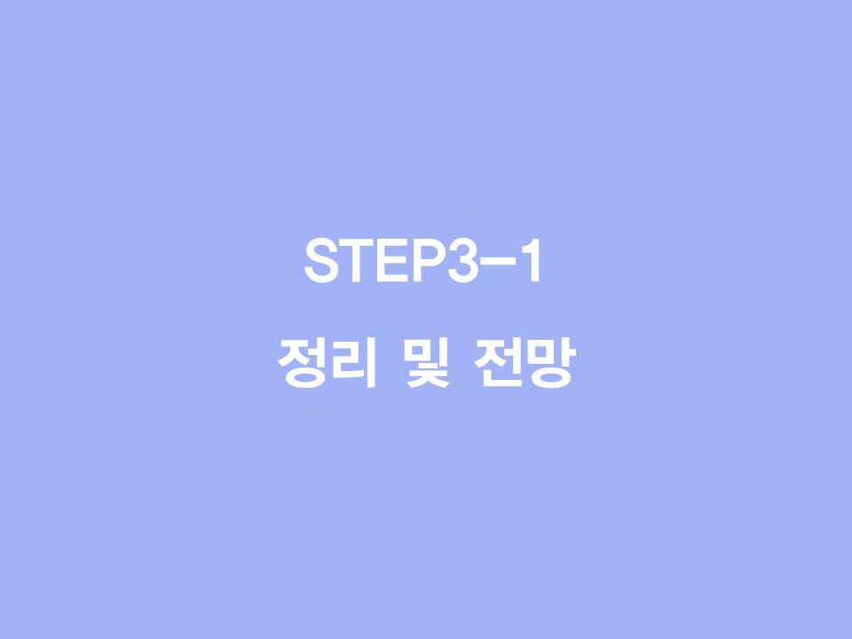STEP3-1 정리 및 전망