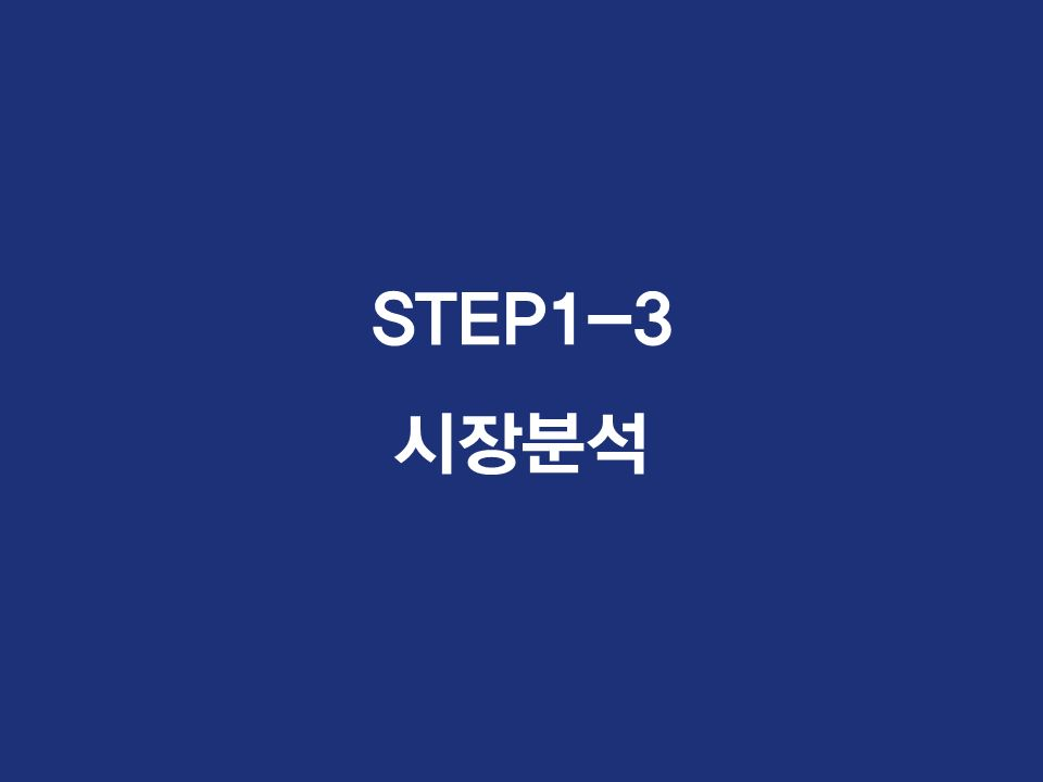 STEP1-3 시장분석