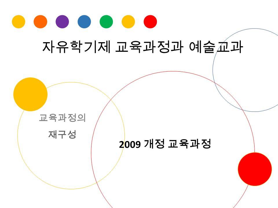 자유학기제 교육과정과 예술교과 2009 개정 교육과정 교육과정의 재구성