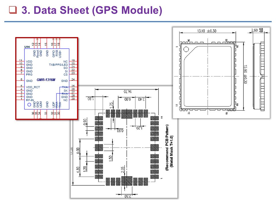  3. Data Sheet (GPS Module)