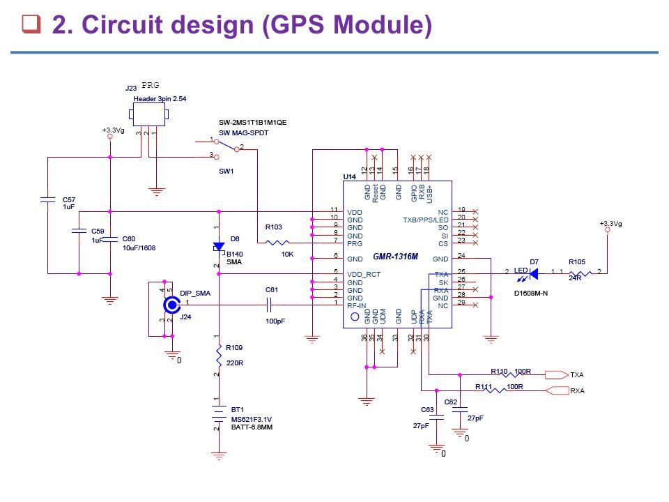  2. Circuit design (GPS Module)