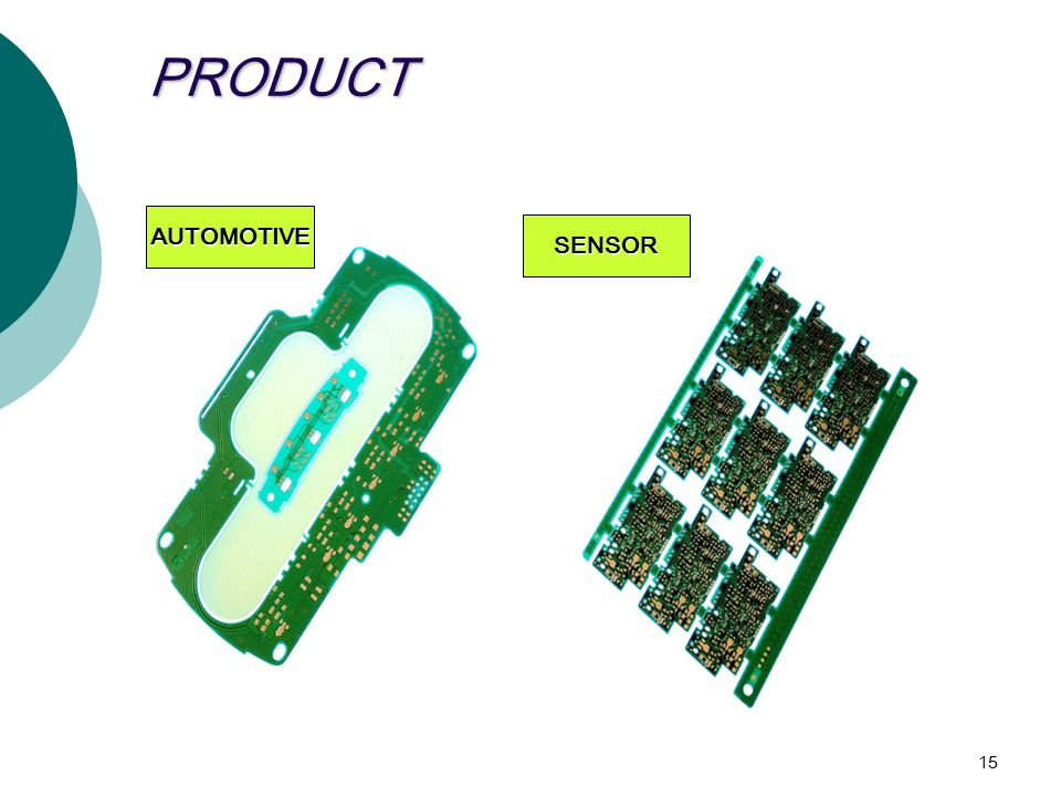 15 PRODUCT AUTOMOTIVE SENSOR
