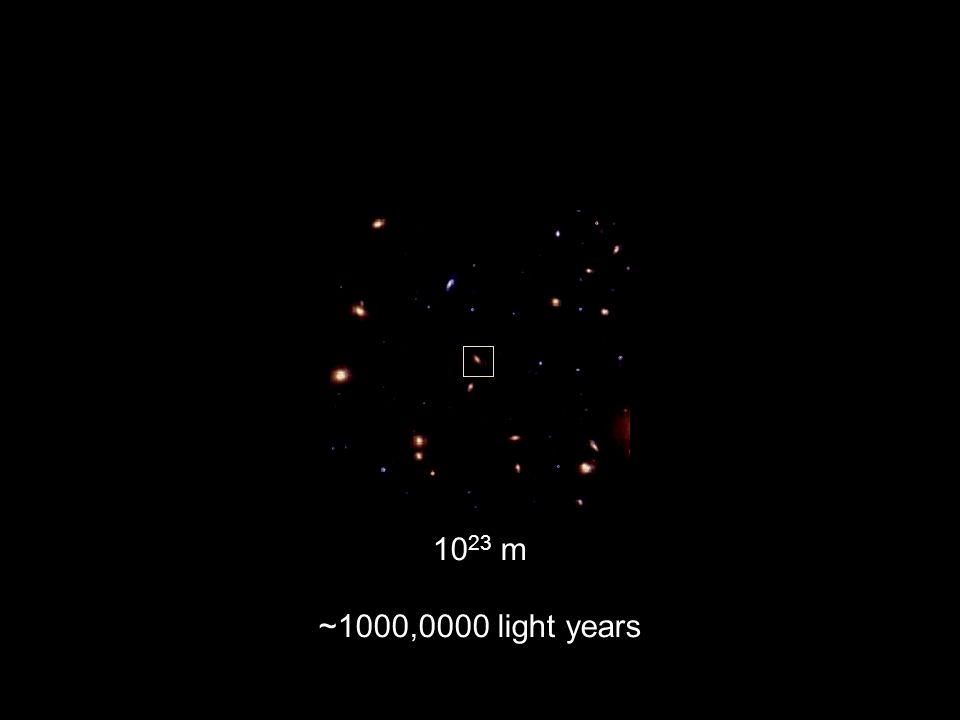 10 23 m ~1000,0000 light years