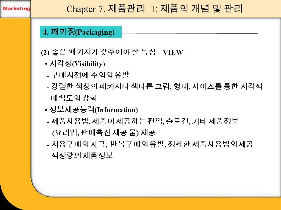 Marketing 1. 제품의 개념과 분류 Chapter 7. 제품관리 Ⅰ : 제품의 개념 및 관리 Marketing 1.