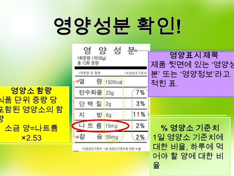 가공에 따른 Na 함량 증가 86.5 배 433.3 배 250 배