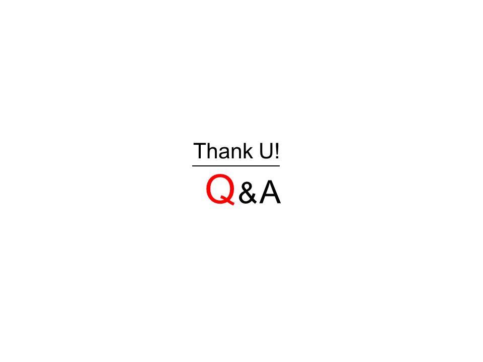 Thank U! Q & AQ & A
