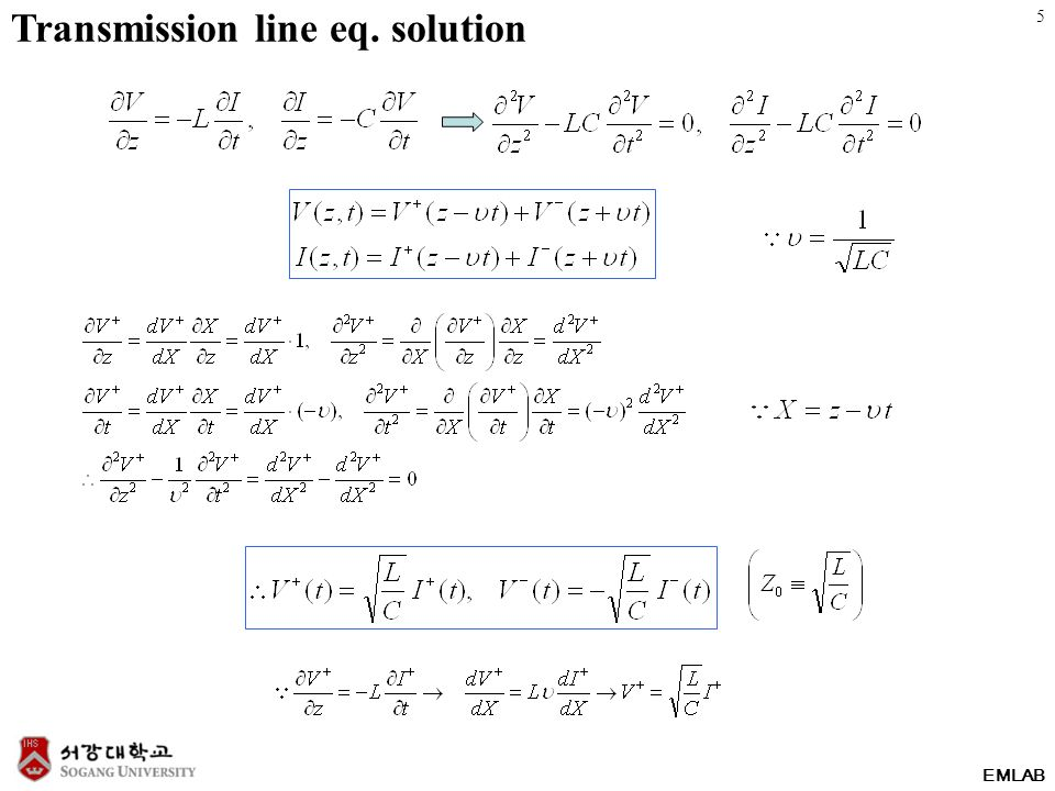 EMLAB Transmission line eq. solution 5