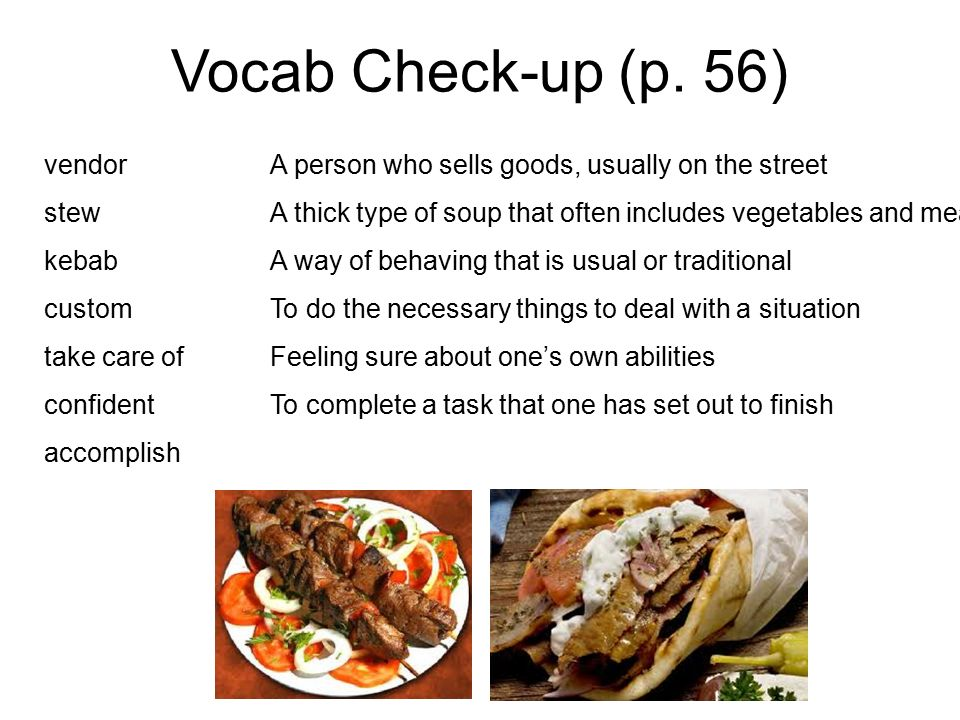 Vocab Check-up (p.