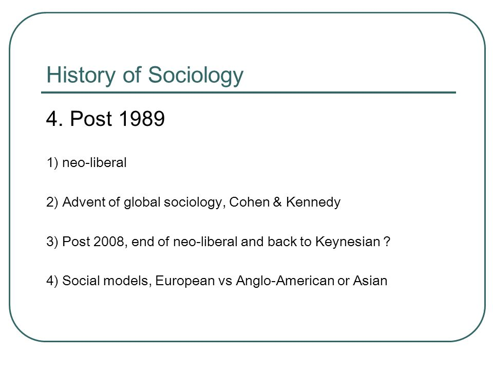 History of Sociology 4.
