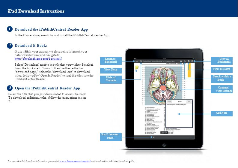 iPad Download Instructions 1 Download the iPublishCentral Reader App In the iTunes store, search for and install the iPublishCentral Reader App.