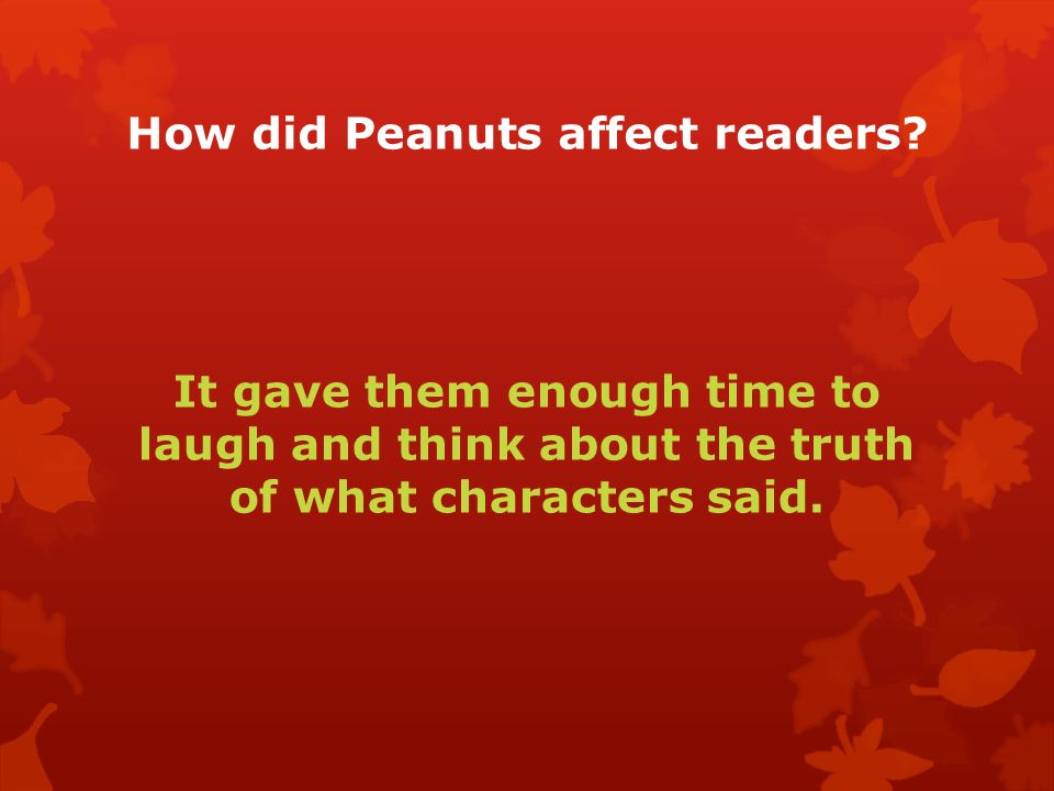 How did Peanuts affect readers.
