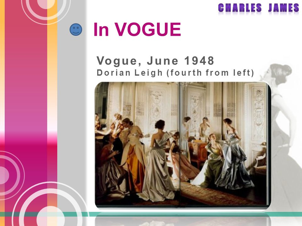 In VOGUE Vogue, June 1948 Dorian Leigh (fourth from left)